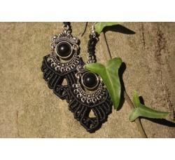 Black Globe Earrings