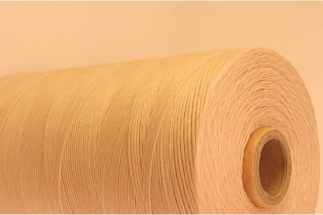 Beige Cotton waxed Cord
