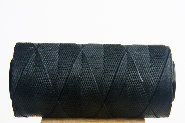 Black Waxed Cord Spool
