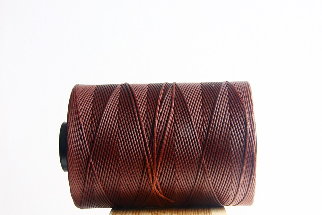 Cocoa Waxed Cord Spool