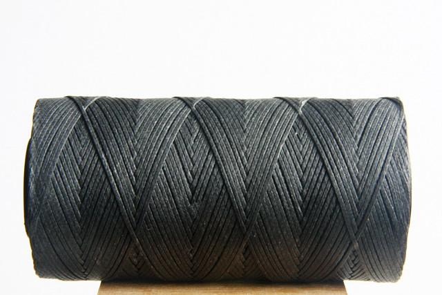 Dark Grey Waxed Cord Spool