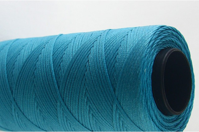 Turchese Waxed polyester cord for Macrame