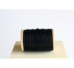 Black Semi Waxed Cord (0,6 mm)