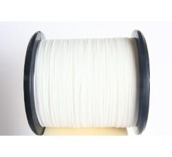 White Semi Waxed Cord (0,8 mm)